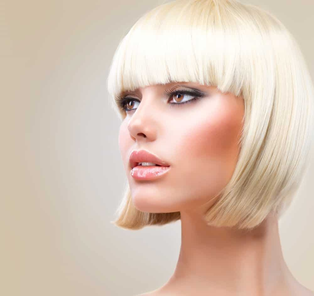 Straight short bobs can looks really pretty and sophisticated. You can really change your entire look with this hairstyle.