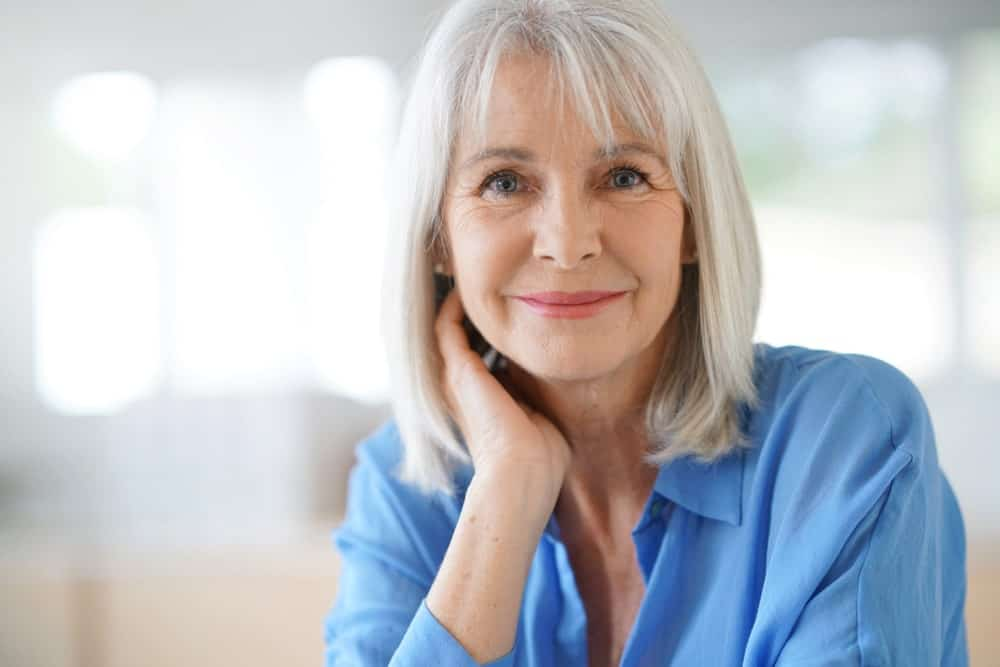 This is a great style not just for mature women, but for women of all ages, to get that adorable youthful look. Just ask your stylist to cut your hair into a straight, shoulder-length bob and add some wispy eye-skimming bangs. This style is also great for women with thinning hair and is easy to maintain.