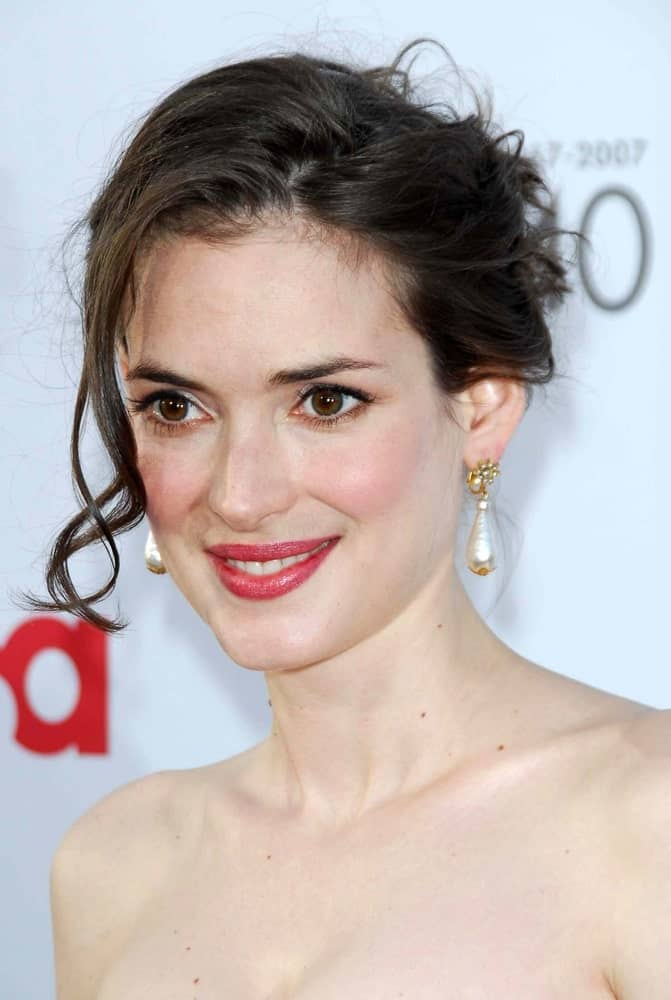 Winona Ryder's wedding hairstyle for women is not very fancy and thus, quite easy to sport. But it is still a good choice to consider if you have got really fancy earrings or perhaps even a necklace that you want to show off at the event.