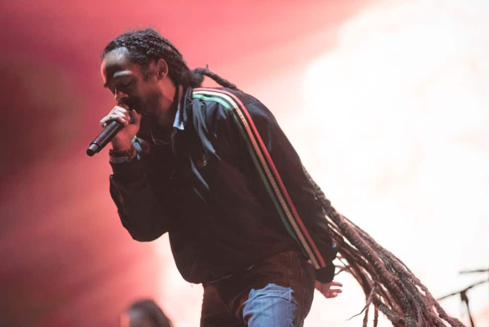No points for guessing who this is, right? This is Damian Marley, the ever-popular Jamaican reggae recording artist who takes the prize for the longest dreads ever! His super long and healthy looking dreads go all the way to his feet that he has pulled back into a low ponytail. His dreads are really thick that help give it a very fine and neat look.