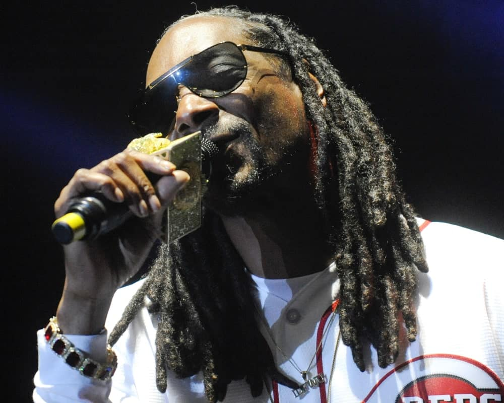 Not just known for his music, but also his hair, Snoop Dogg completely rocks his thick, long dreadlocks. He has pulled his dark-black dreadlocks in the front on both the sides that go really well with his sleek face structure and prominent jaw-line.
