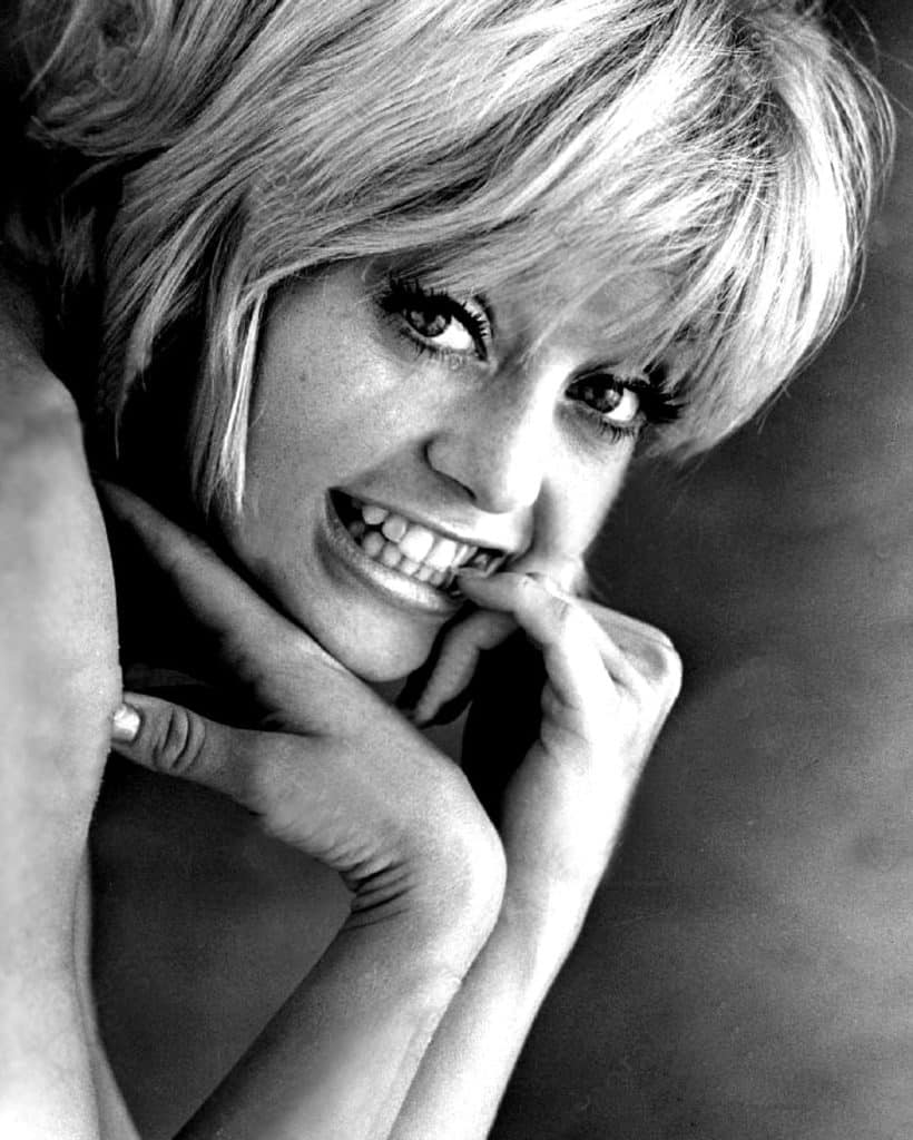 "Goldie Hawn sporting a Sassoon hair cut in her film ""Cactus Flower"""