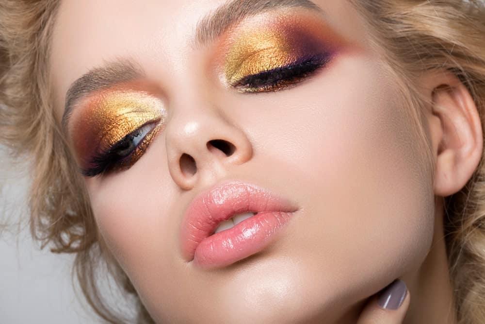 Woman with eyeshadow.