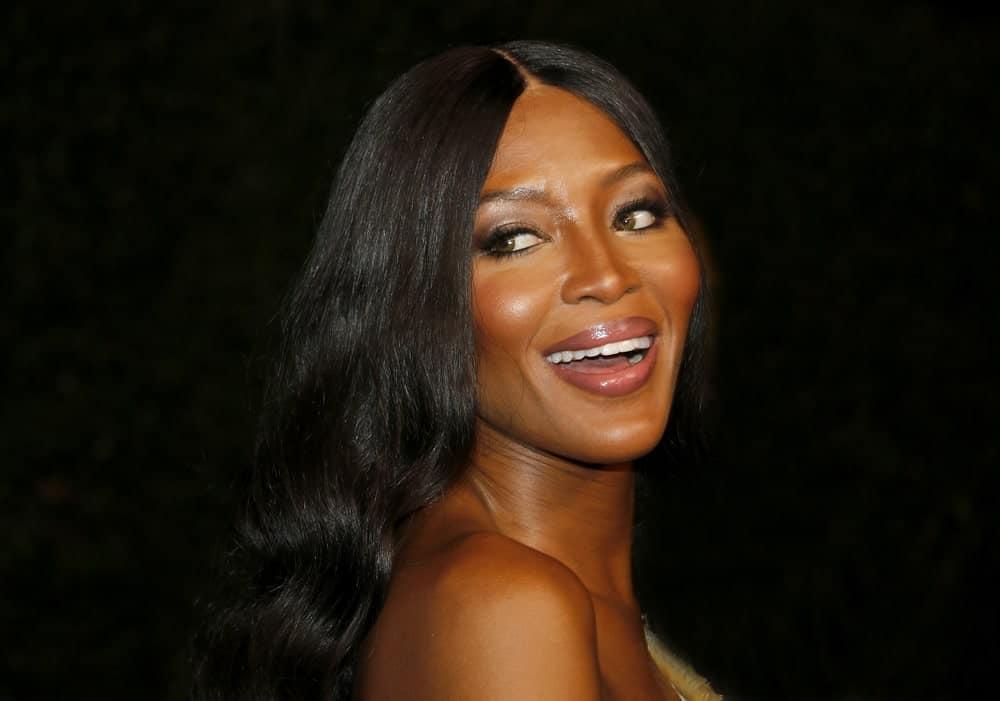 Naomi Campbell smiling