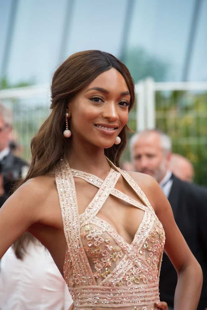 Jourdan Dunn smiling and posing