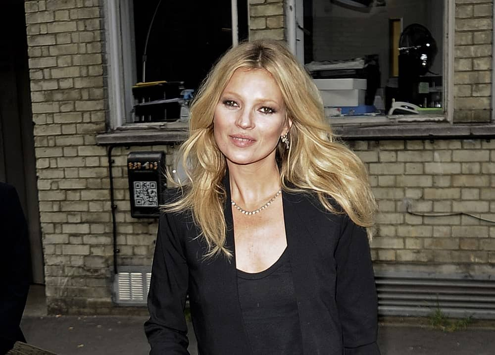 Kate Moss smiling