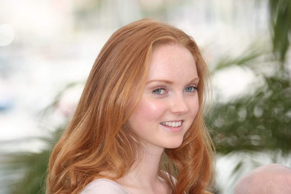 Lily Cole smiling