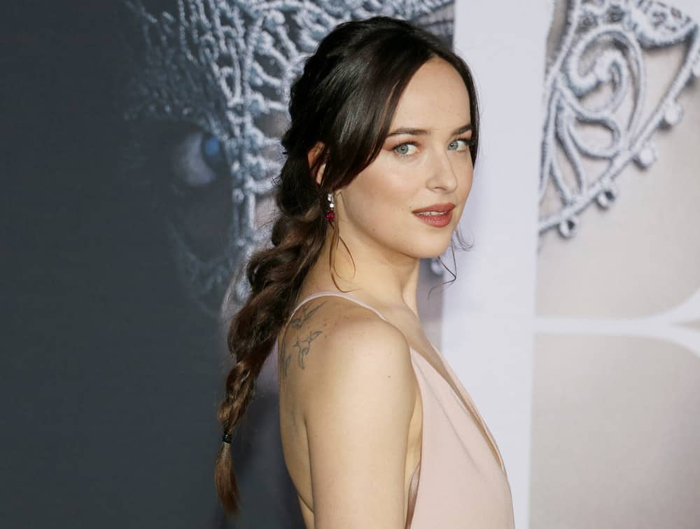 24.Dakota Johnson with layered bangs