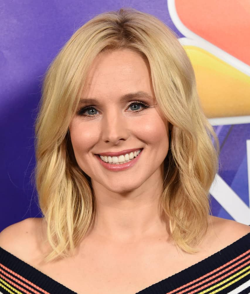 34.Kristen Bell with tapered haircut