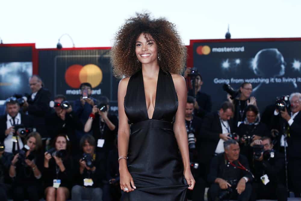 37.Tina Kunakey with afro hairstyle