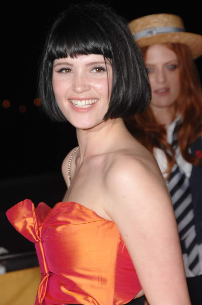 42.Gemma Arterton with blunt bangs bob