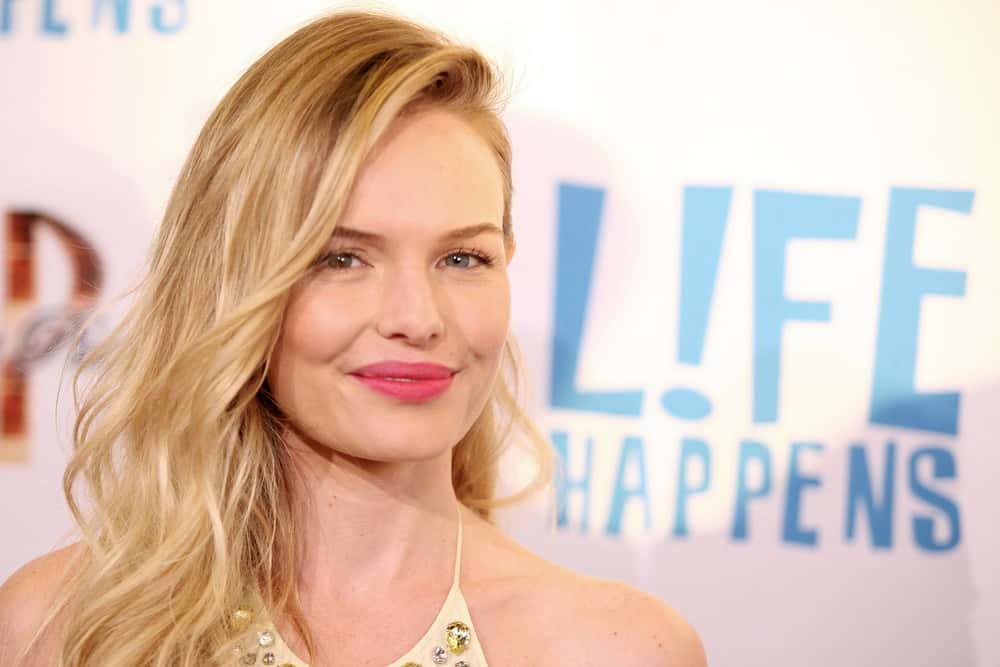 46.Kate Bosworth with off-center part and soft wavy hair