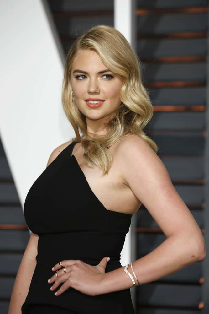 47.Kate Upton with old Hollywood curls