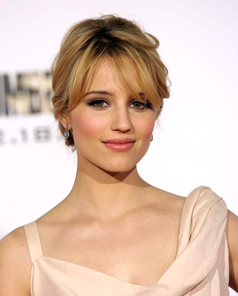 Dianna Agron ina beautiful dress
