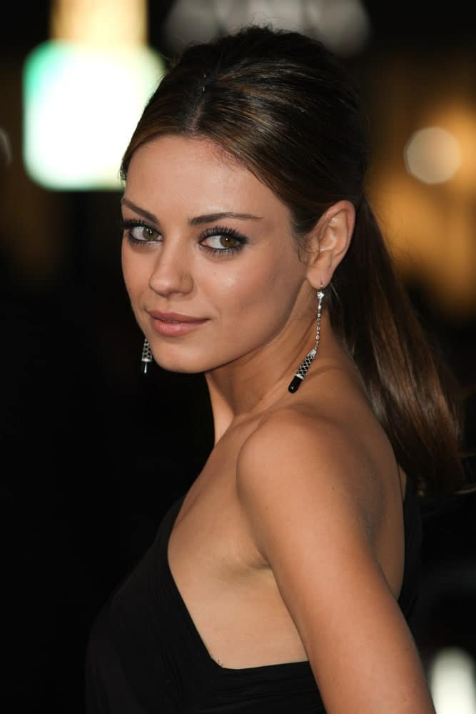 Mila Kunis looking beautiful at an event in California