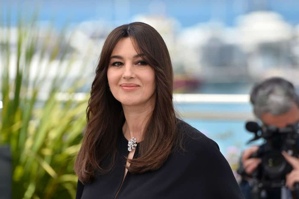 Monica Bellucci ina black dress in Cannes