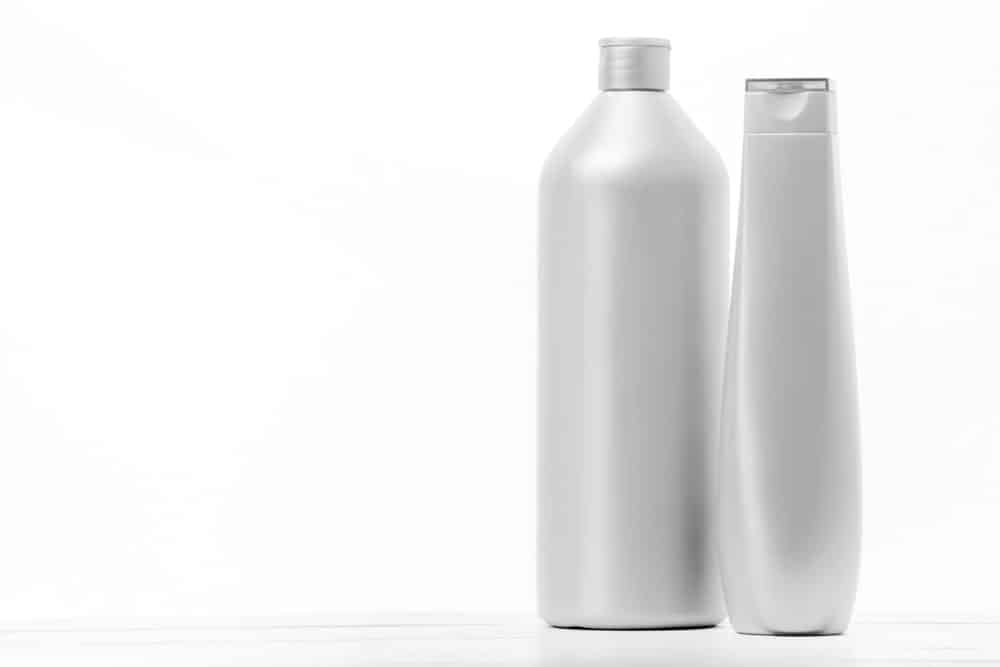 Bottle of shampoo and conditioner