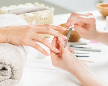 Manicure at a nail salon