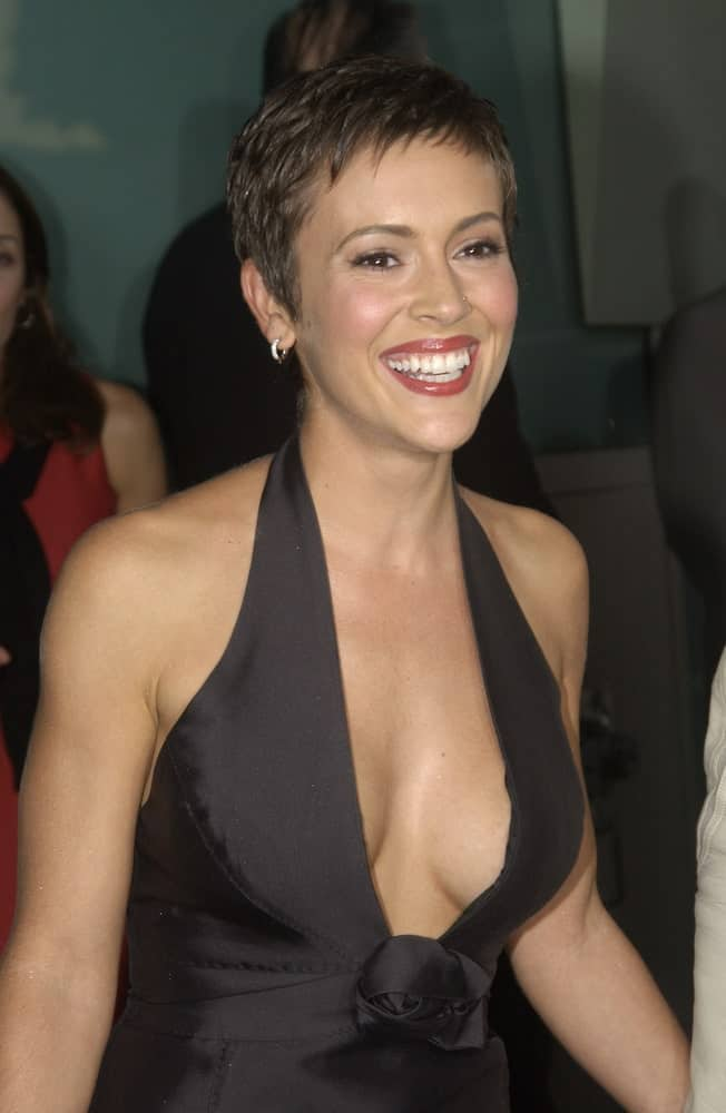 Actress Alyssa Milano at the world premiere of her new movie Dickie Roberts: Former Child Star.