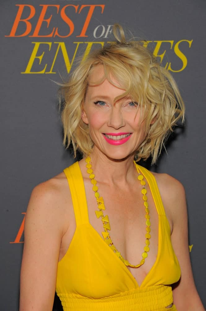 Anne Heche attends 'The Best Of Enemies' New York Premiere at AMC Loews Lincoln Square on April 04, 2019 in New York City.