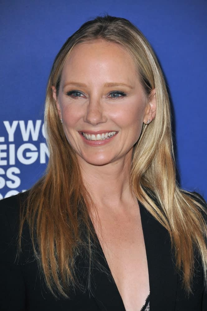 Anne Heche at the Hollywood Foreign Press Association's annual Grants Banquet at the Beverly Hilton Hotel.