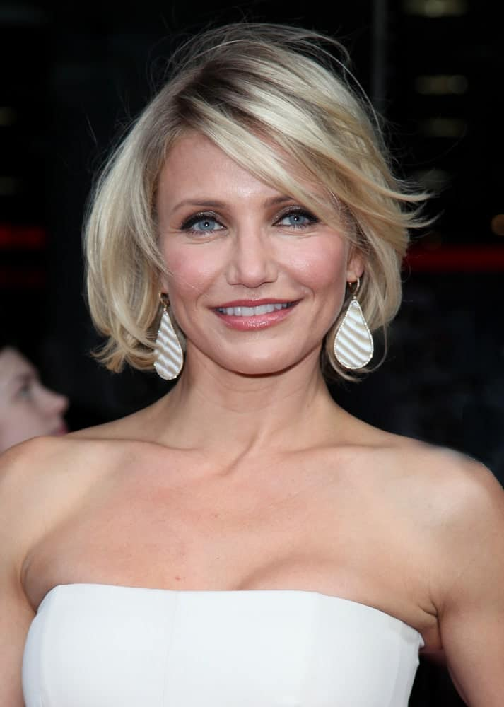 Cameron Diaz arriving for the UK Premiere of 'What To Expect When You're Expecting' at the Imax Cinema, London.