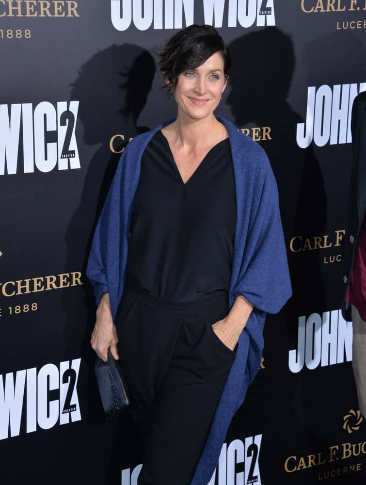 Actress Carrie-Ann Moss at the premiere of