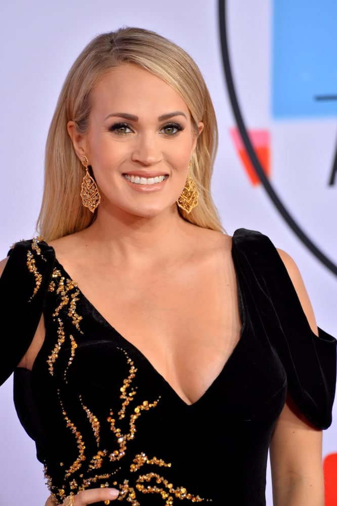 Carrie Underwood at the 2018 American Music Awards at the Microsoft Theatre LA Live.