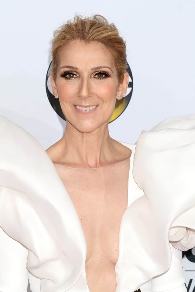 Celine Dion at the 2017 Billboard Awards Press Room at the T-Mobile Arena on May 21, 2017 in Las Vegas, NV