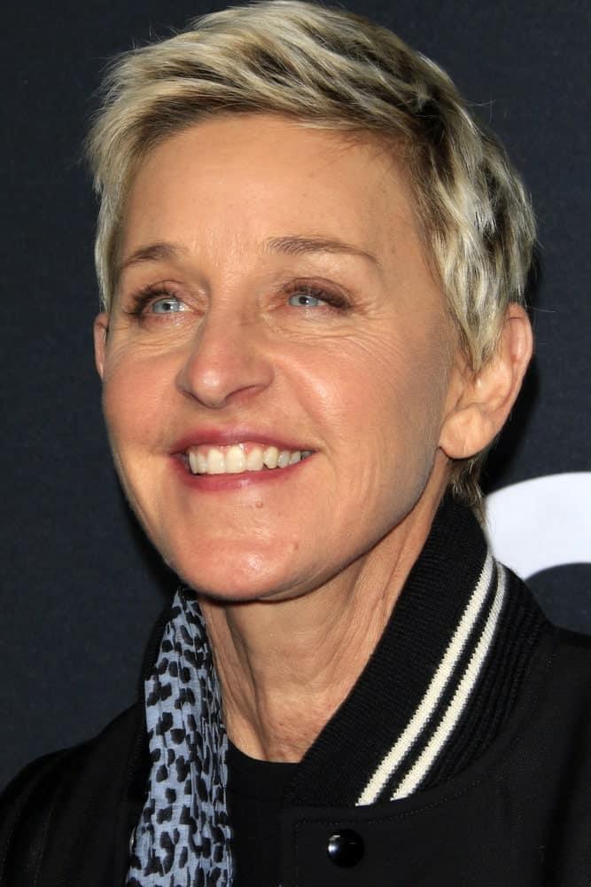 Ellen DeGeneres at the SAINT LAURENT At The Palladium at the Hollywood Palladium on February 10, 2016 in Los Angeles, CA.