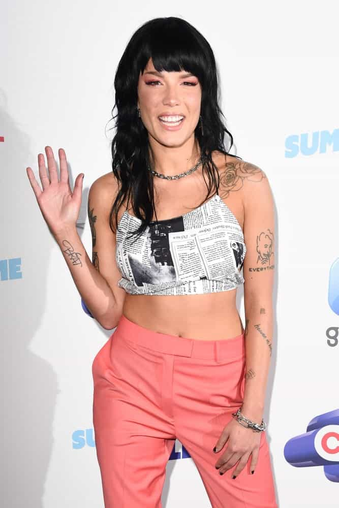 Halsey poses on the media line before performing at the Summertime Ball 2019 at Wembley Arena, London Picture.