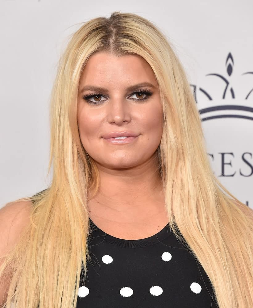 Jessica Simpson arrives for the 2017 Princess Grace Awards Gala Kick-Off on October 24, 2017 in Hollywood, CA.