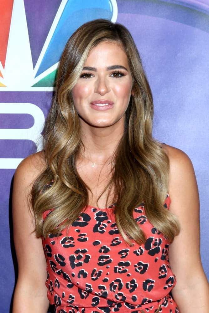 JoJo Fletcher at the NBC TCA Summer 2019 Press Tour at the Beverly Hilton Hotel on August 8, 2019 in Beverly Hills, CA.
