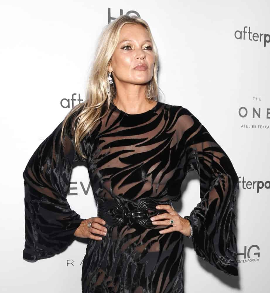 Kate Moss attends The Daily Front Row's 7th annual Fashion Media Awards at The Rainbow Room.