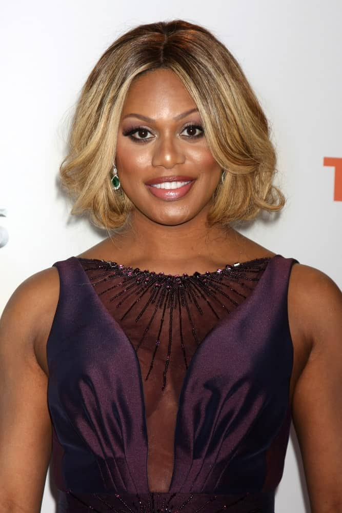 Laverne Cox at the 46th NAACP Image Awards Arrivals at a Pasadena Convention Center on February 6, 2015 in Pasadena, CA.