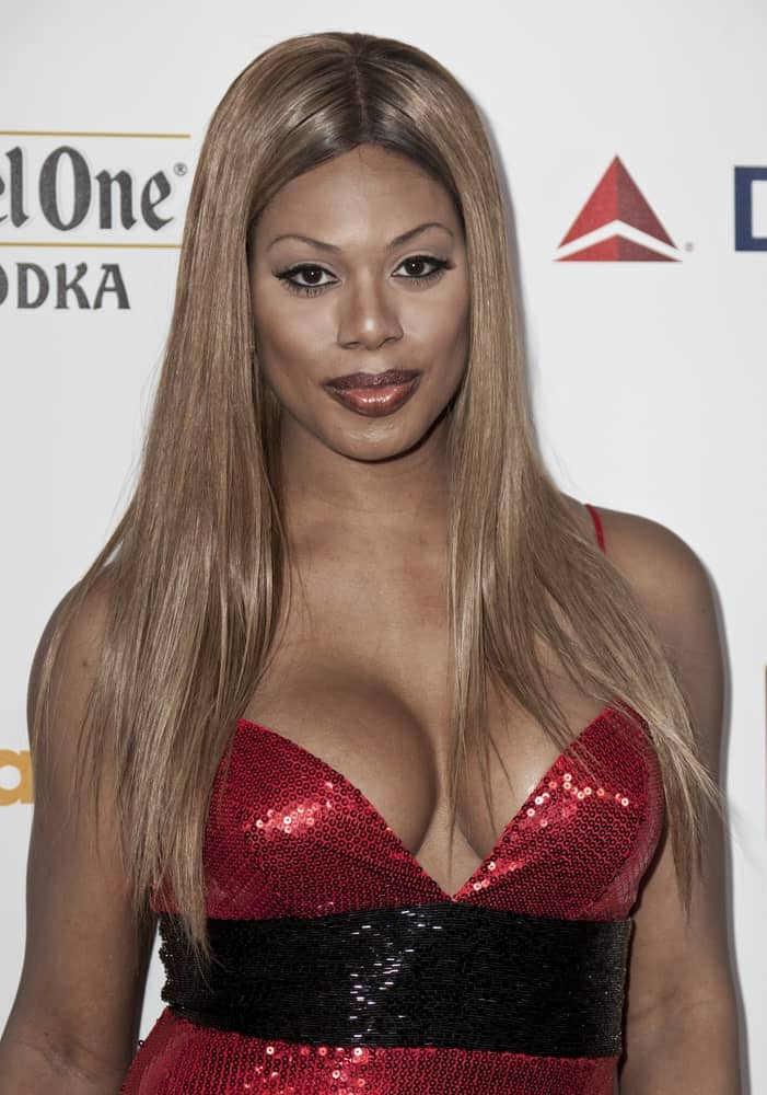 Laverne Cox attends the 23rd Annual GLAAD Media Awards presented by Ketel One and Wells Fargo at Marriott Marquis Theater on March 24, 2012 in New York City.