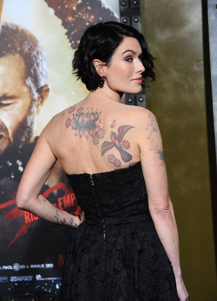 Lena Headey at the premiere of her movie