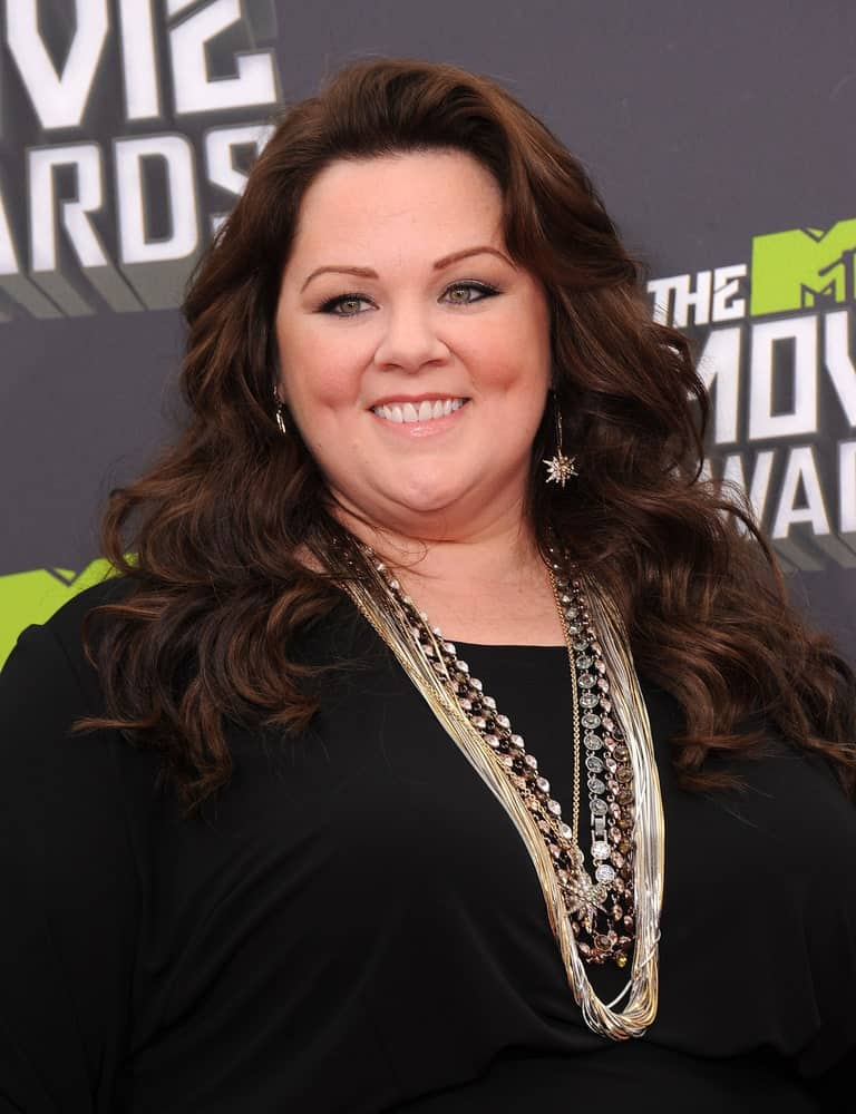 Melissa McCarthy arrives to the Mtv Movie Awards 2013 on April 14, 2013 in Culver City, CA.