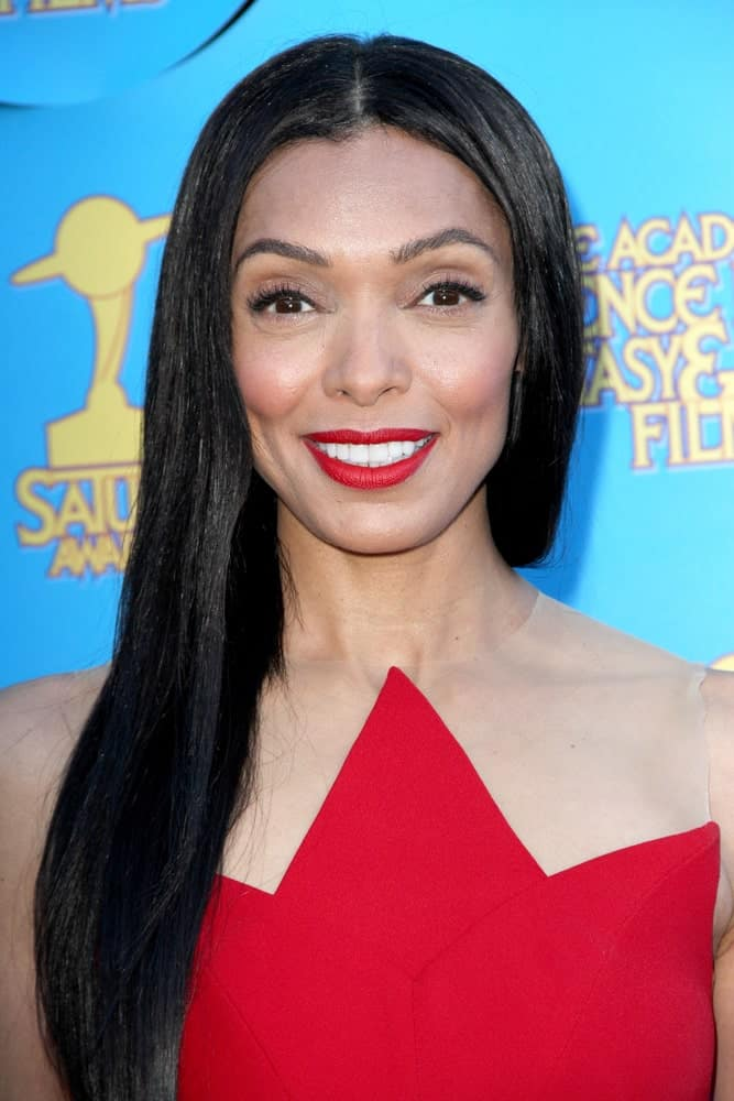 Tamara Taylor arrives at the 41st Annual Saturn Awards on Thursday, June 25, 2015 at the Castaway Restaurant in Burbank, CA.