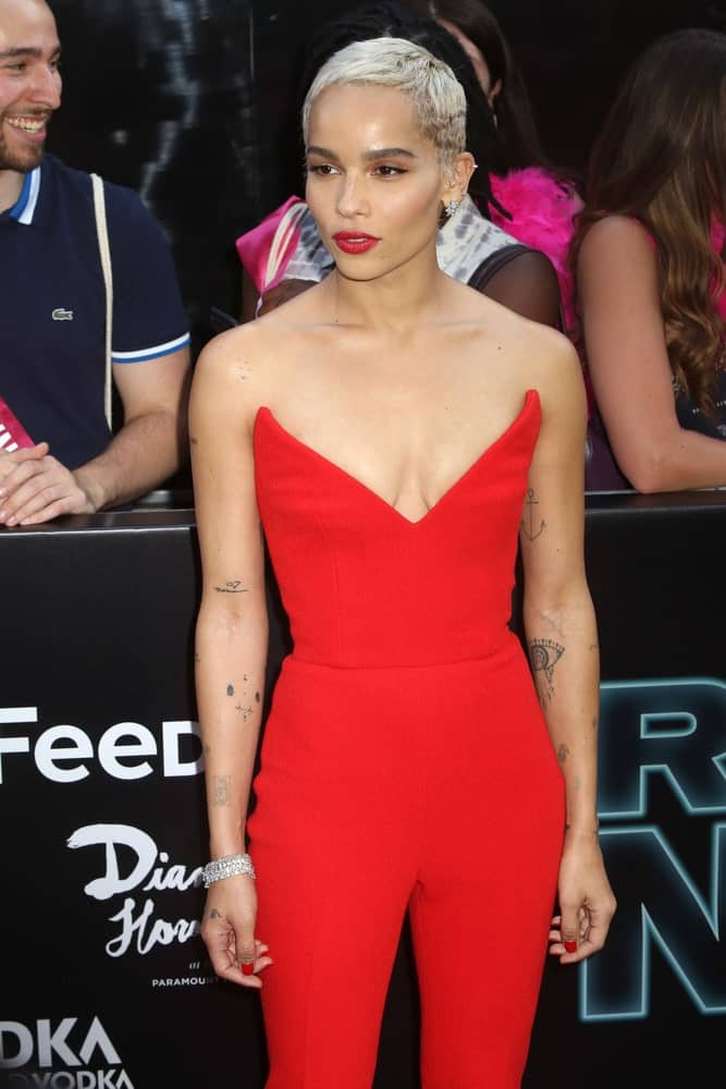 Zoe Kravitz attends the premiere of