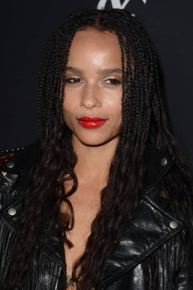 Zoe Kravitz at the Zoe Kravitz Celebrates Her New Role With Yves Saint Laurent Beauty at Gibson Brands Sunset on May 19, 2016 in West Hollywood, CA.