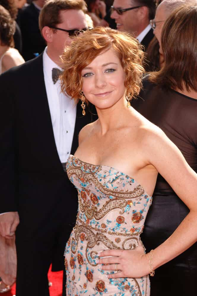 Alyson Hannigan at the 57th Annual Primetime Emmy Awards in Los Angeles. September 18, 2005 Los Angeles, CA.