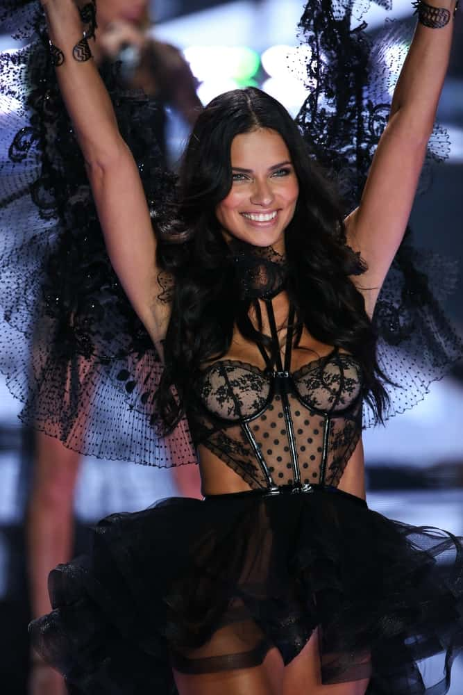 Victoria's Secret model Adriana Lima walks the runway during the 2014 Victoria's Secret Fashion Show on December 2, 2014, in London, England.