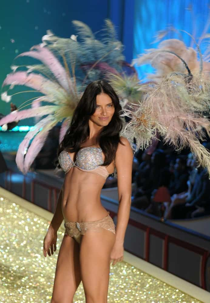 Victoria's Secret sexy model Adriana Lima walks the runway during the 2010 Victoria's Secret Fashion Show on November 10, 2010, at the Lexington Armory in New York City.
