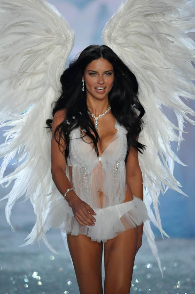 Model Adriana Lima walks the runway at the 2013 Victoria's Secret Fashion Show at Lexington Avenue Armory on November 13, 2013, in New York City.
