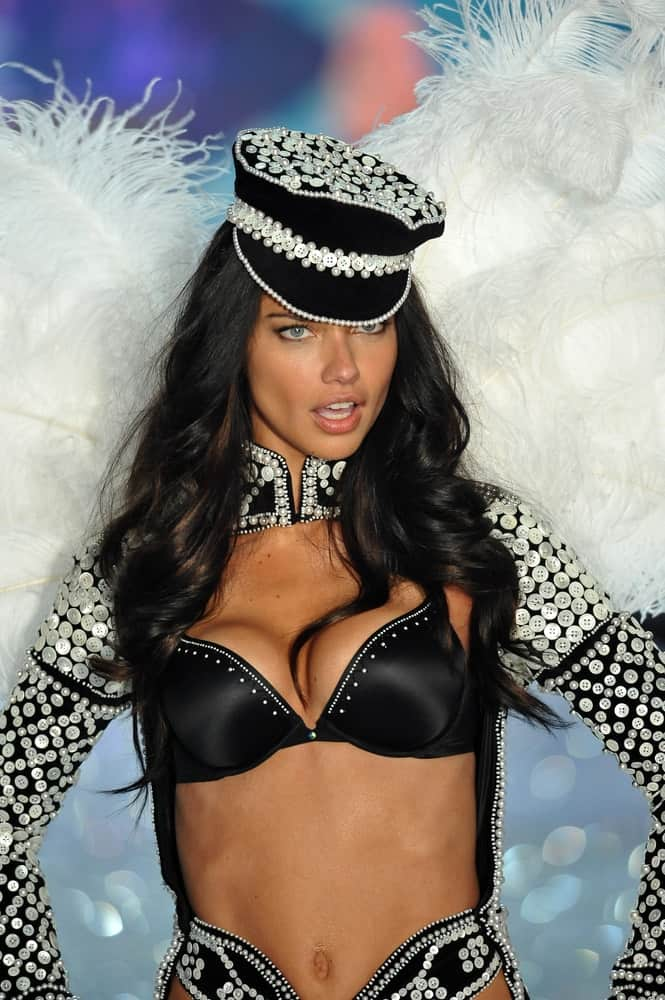 Model Adriana Lima walks in the 2013 Victoria's Secret Fashion Show at Lexington Avenue Armory on November 13, 2013, in New York City.