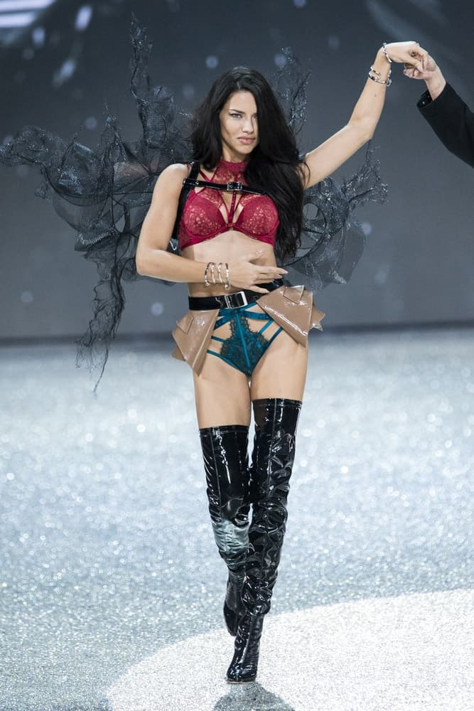 Adriana Lima walks the runway at the Victoria's Secret Fashion Show on November 30, 2016, in Paris, France.