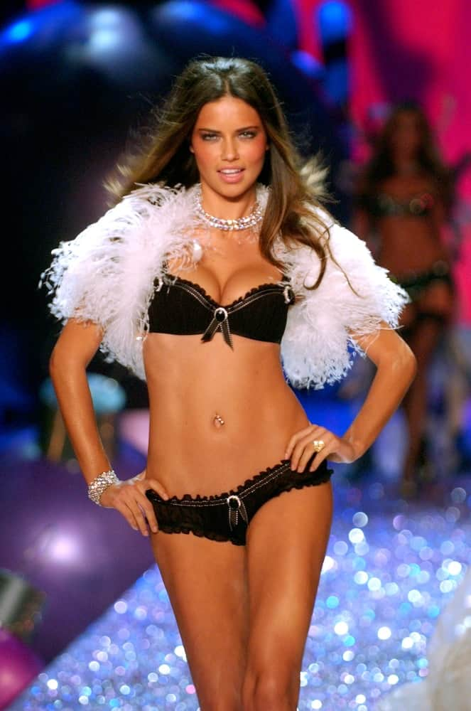 Victoria's Secret Fashion model Adriana Lima walks the runway during the 2010 Victoria's Secret Fashion Show on November 9, 2005, at the Lexington Armory in New York City.