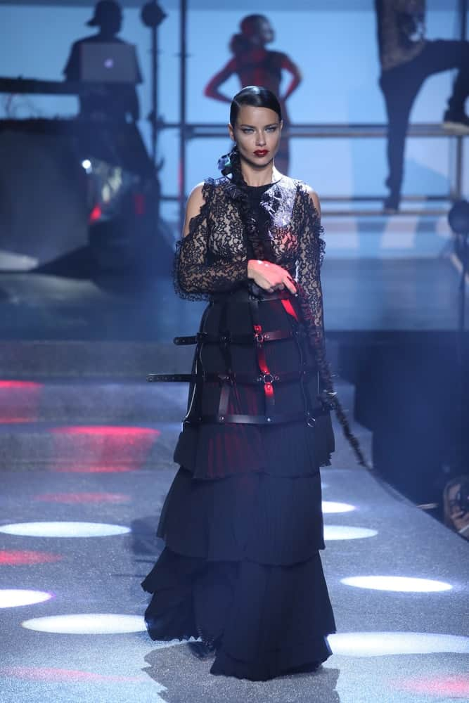 Adriana Lima walks the runway at the Philipp Plein fashion show during New York Fashion Week: The Shows at Hammerstein Ballroom on September 9, 2017, in New York City.