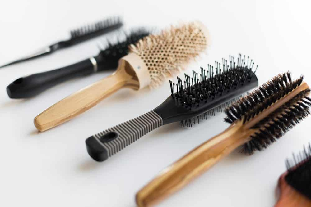 Different types of hair brushes.